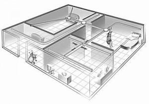 Illustratie Tilsysteem plafondlift 500x350 grijstinten