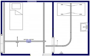 Tilsysteem - plafondlift ontwerpvoorbeeld 4 800x500