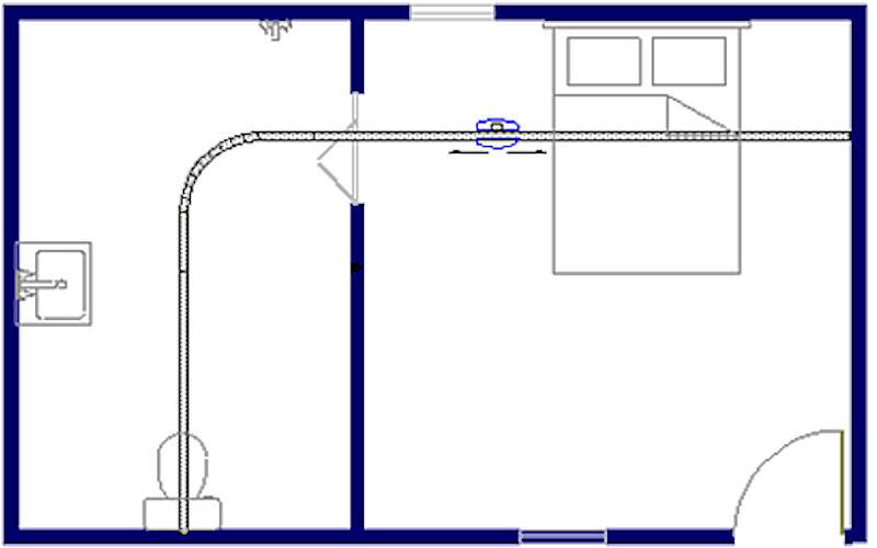 Tilsysteem - plafondlift ontwerpvoorbeeld 5 800x500