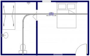Tilsysteem - plafondlift ontwerpvoorbeeld 6 800x500